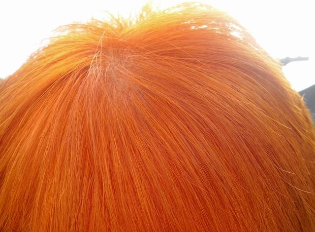 Graue Haare rot färben Test